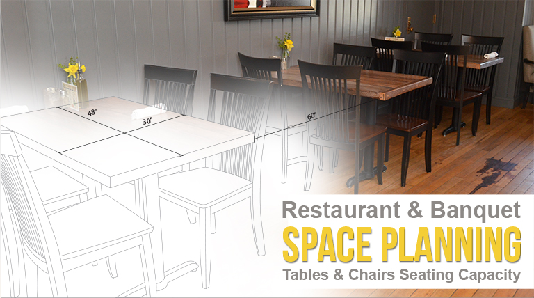 Restaurant banquet space planning tables chairs