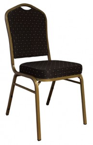 black banquet chair