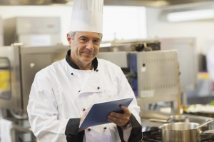 Chef manages POS