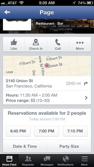How To Set Up An OpenTable Reservation Facebook App - Table reservation app