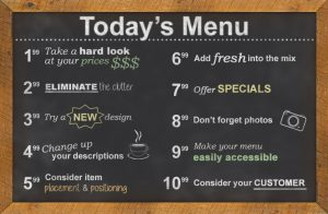 Improving Your Menu to Increase Profitability