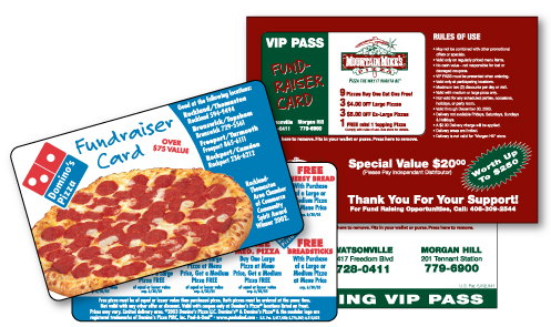 Fundraising cards lik Peel-A-Deal are a great, easy option for restaurants to help charities.