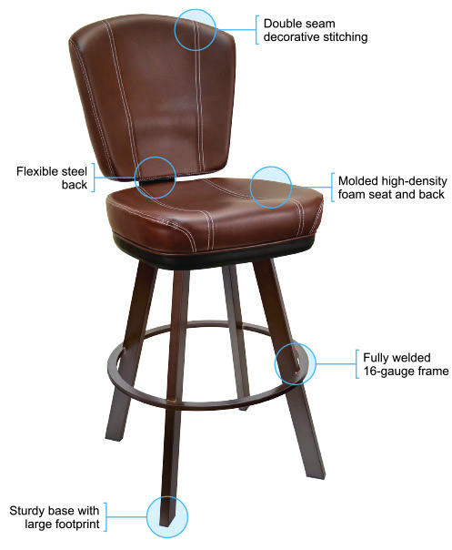 825 Bucket Bar Stool Features