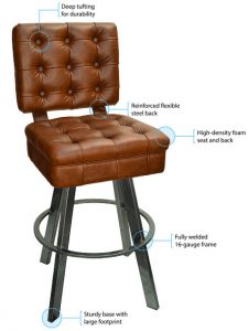 925 Bucket Bar Stool Features