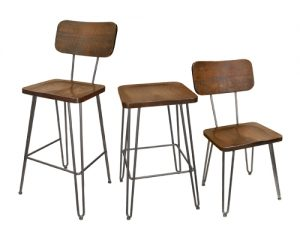 Piper Bar Stool, Backless Bar Stool, and Chair