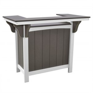Lake Shore Poly Lumber Bar in Driftwood Gray and White