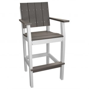 Lake Shore Bar Stool in Driftwood Gray and White