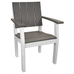 Lake Shore Arm Chair in Driftwood Gray and White