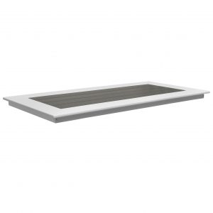 Lake Shore Table Top Rectangle in Driftwood Gray and White