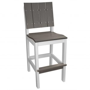 Lake Shore Side Bar Stool in Driftwood Gray and White