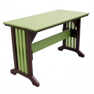 Outer Banks Rectangle Table with Poly Picket Base in Lime and Tudor