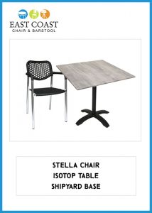 Stella Chair, IsoTop Table, Shipyard Table Base
