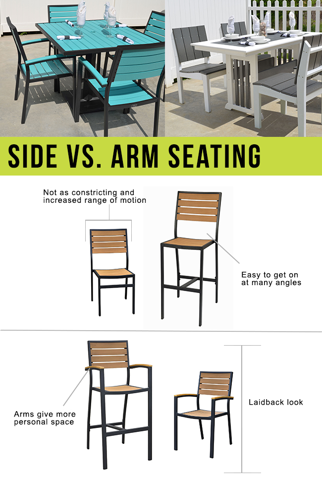 Side Chair vs Arm Chair Infographic