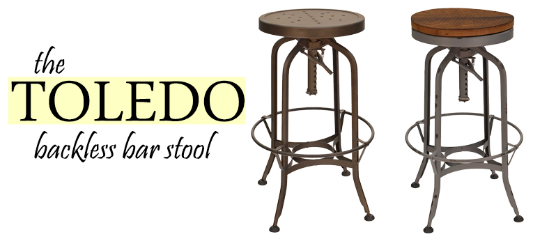 Toledo Backless Bar Stool