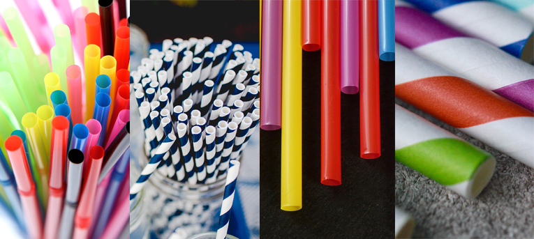 Plastic and Paper Straws