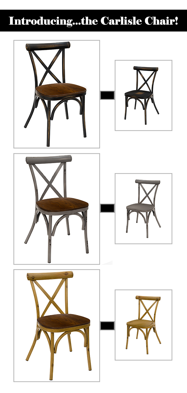 Carlisle Chair with Wood and Metal Seat