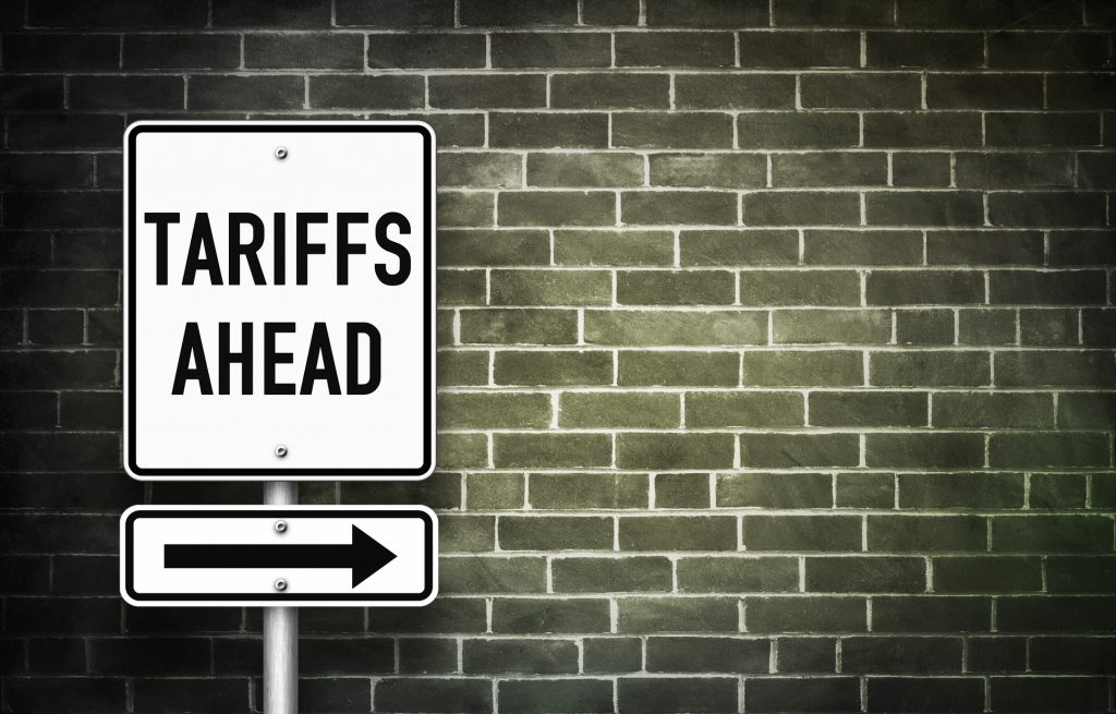 Tariffs ahead - Traffic Sign