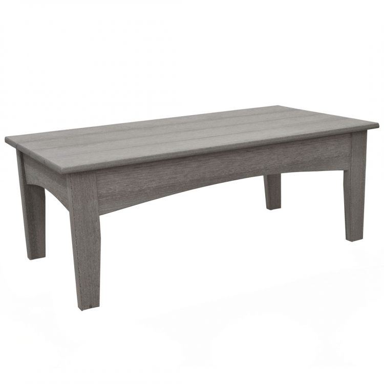 Monaco Collection Coffee Table in Driftwood Gray Poly Lumber
