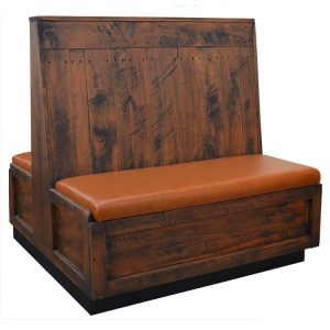 Rustic Pine Booth - Double