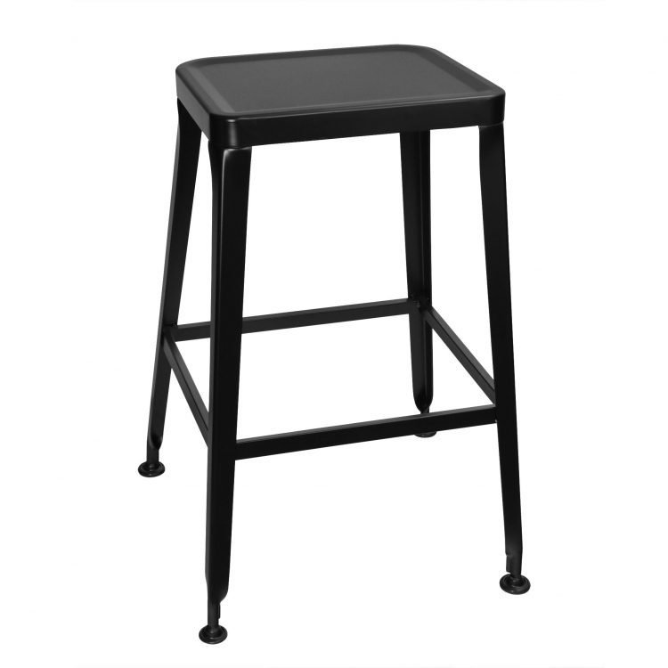 Simon Backless Bar Stool in Black