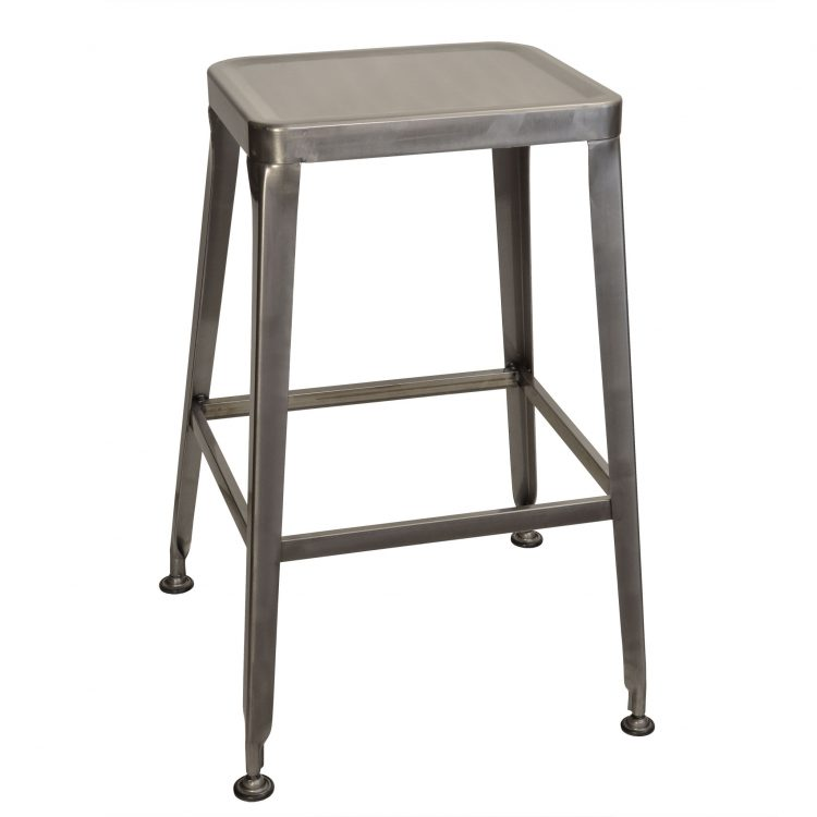Simon Backless Bar Stool in Clear Coat
