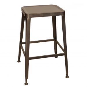 Simon Backless Bar Stool in Rust