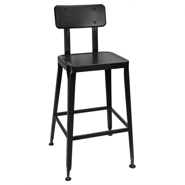 Simon Bar Stool in Black