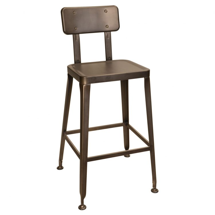 Simon Bar Stool in Rust