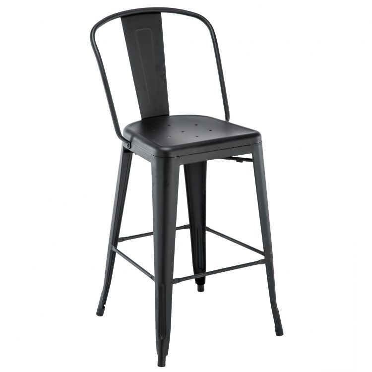 Viktor Bar Stool in Black