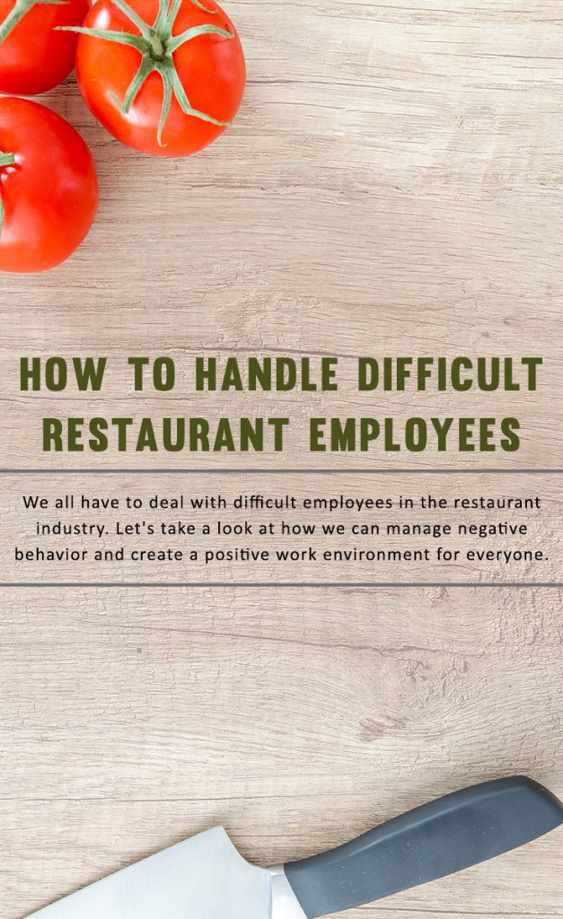 How to Handle Difficult Restaurant Employees - Pinterest Graphic