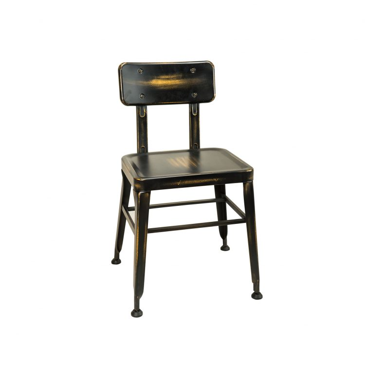 Simon Chair in Distressed Black