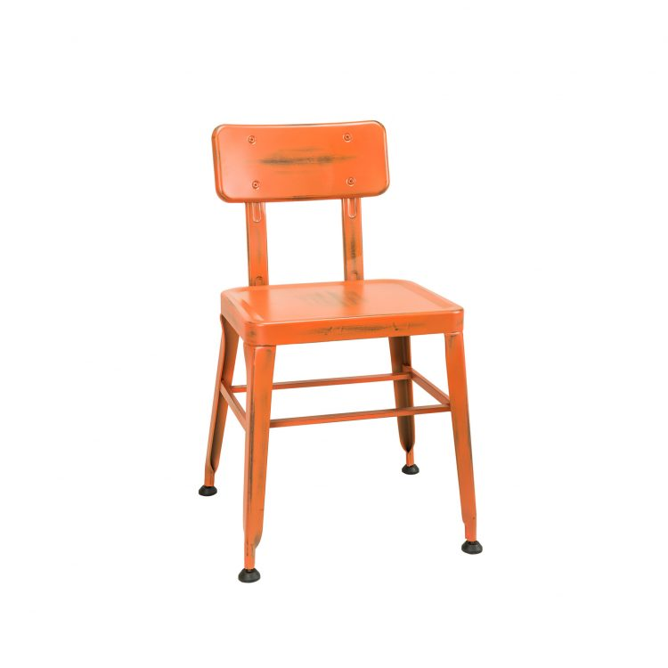 Simon Chair in Distressed Orange