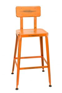 Simon Bar Stool in Distressed Orange