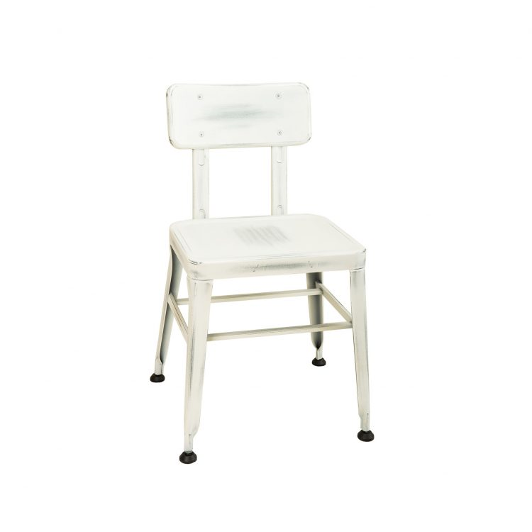 Simon Chair in Distressed White